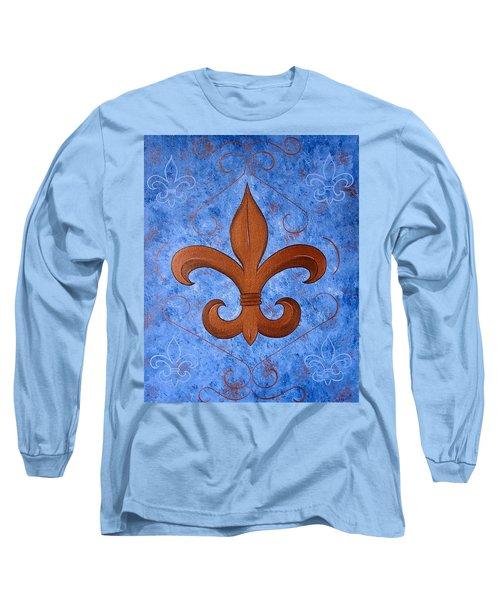 Bronze Fleur De Lis Long Sleeve T-Shirt