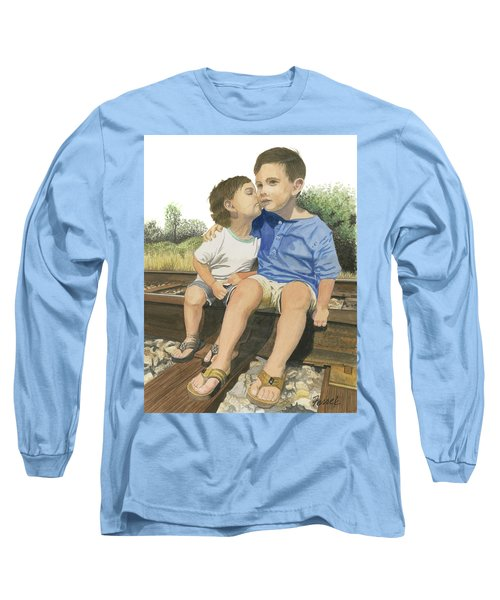 Brotherly Love Long Sleeve T-Shirt by Ferrel Cordle