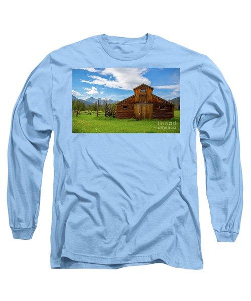 Buckaroo Barn Long Sleeve T-Shirt by John Roberts