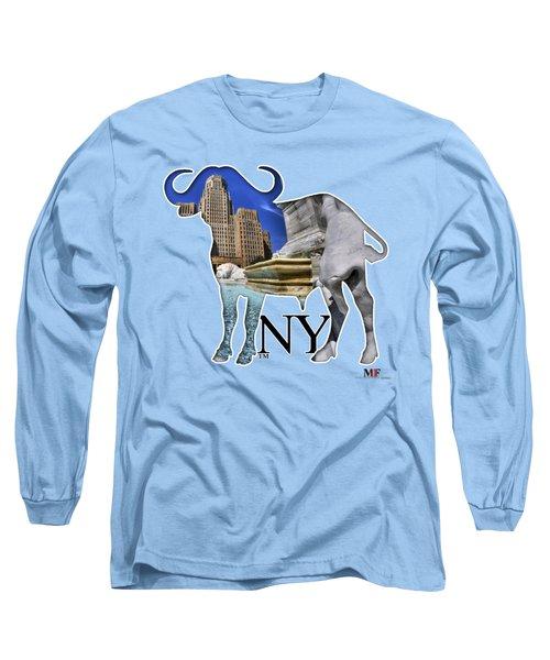 Buffalo Ny City Hall Niagara Square  Long Sleeve T-Shirt by Michael Frank Jr