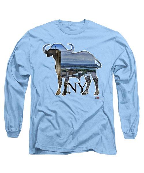 Buffalo Ny Skyway Long Sleeve T-Shirt by Michael Frank Jr