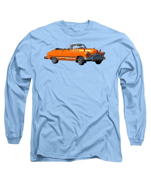 Buick Art In Orange Long Sleeve T-Shirt
