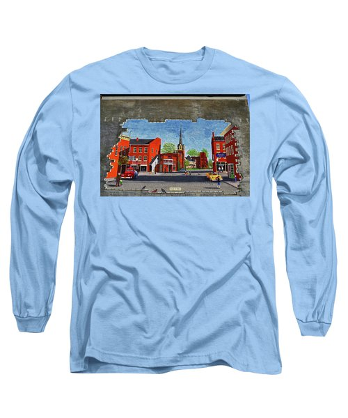 Building Mural - Cuba New York 001 Long Sleeve T-Shirt by George Bostian