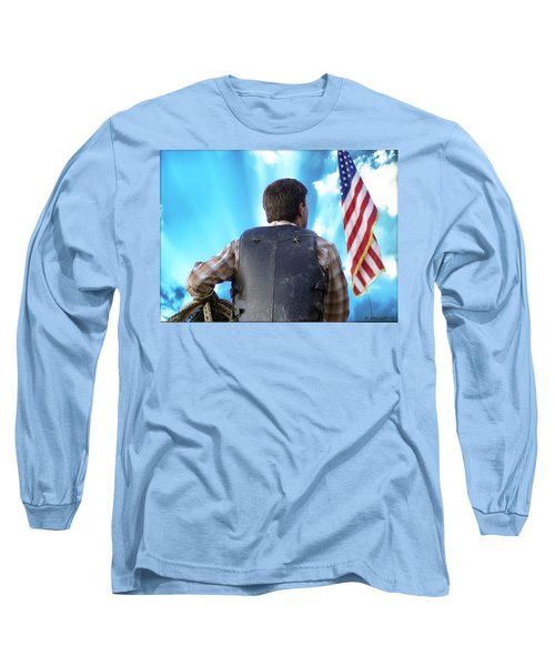 Long Sleeve T-Shirt featuring the photograph Bull Rider by Brian Wallace