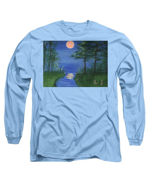 Bunnies In The Garden At Midnight Long Sleeve T-Shirt