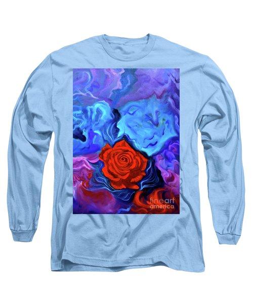 Bursting Rose Long Sleeve T-Shirt