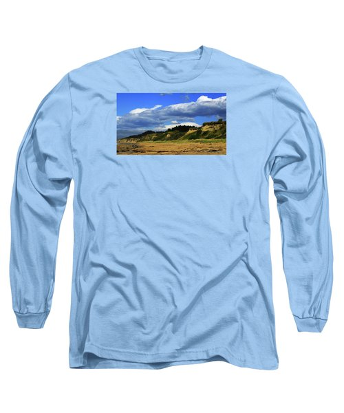 Long Sleeve T-Shirt featuring the photograph Bushy Beach by Nareeta Martin