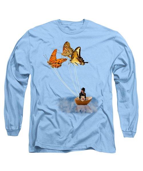 Butterfly Sailing Long Sleeve T-Shirt
