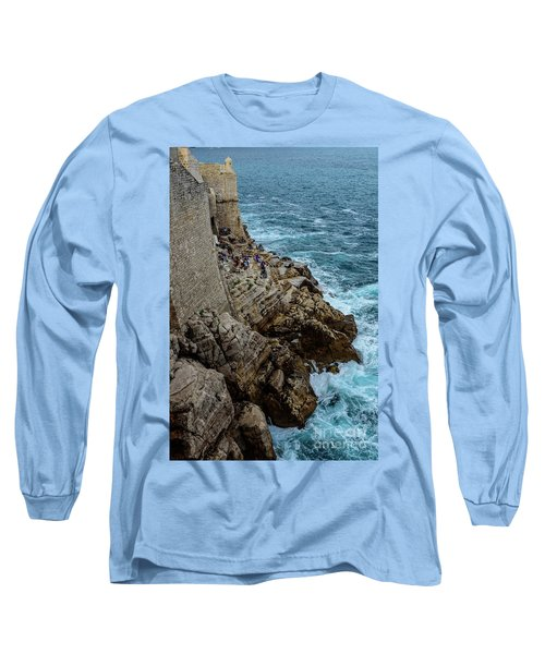 Buza Bar On The Adriatic In Dubrovnik Croatia Long Sleeve T-Shirt