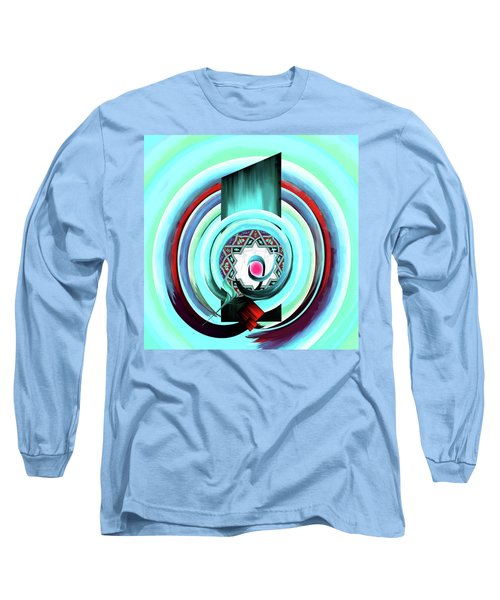 Long Sleeve T-Shirt featuring the painting Calligraphy 104 4 by Mawra Tahreem