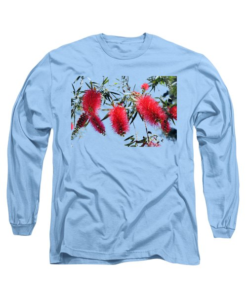 Callistemon - Bottle Brush T-shirt 3 Long Sleeve T-Shirt by Isam Awad