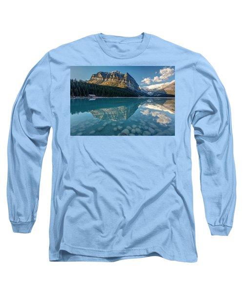 Calm Lake Louise Reflection Long Sleeve T-Shirt