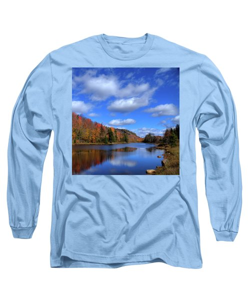 Calmness On Bald Mountain Pond Long Sleeve T-Shirt by David Patterson