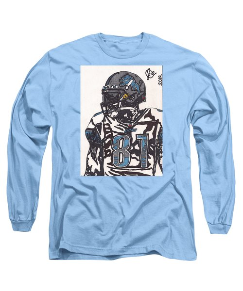 Calvin Johnson Jr 3 Long Sleeve T-Shirt by Jeremiah Colley