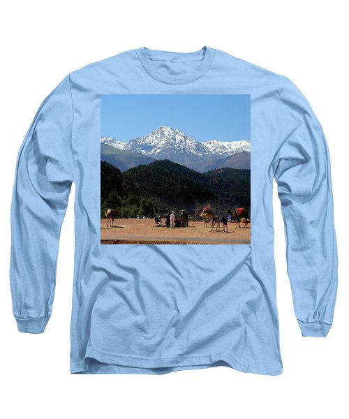 Long Sleeve T-Shirt featuring the photograph Camels 1 by Andrew Fare