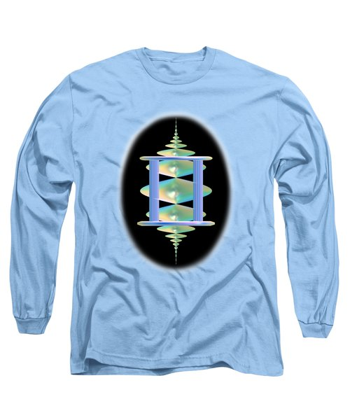 Cameo Abstract In Aqua Long Sleeve T-Shirt