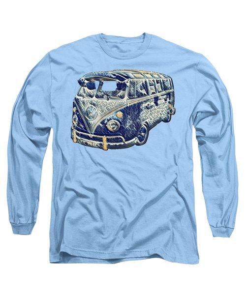 Camper Van Waves Long Sleeve T-Shirt by John Colley