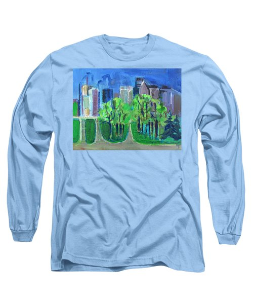 Long Sleeve T-Shirt featuring the painting Campus by Betty Pieper