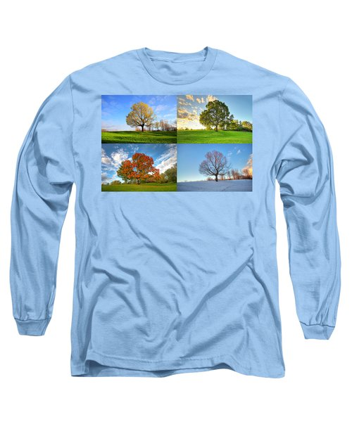 Canadian Seasons Long Sleeve T-Shirt by Mircea Costina Photography