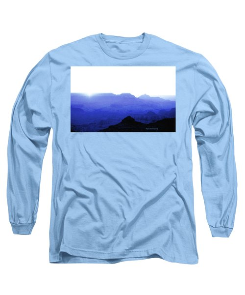 Canyon In Blue Long Sleeve T-Shirt
