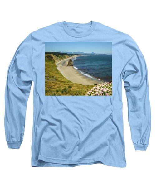 Cape Blanco On The Oregon Coast By Michael Tidwell Long Sleeve T-Shirt