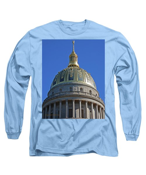Capitol Dome Charleston Wv Long Sleeve T-Shirt by DigiArt Diaries by Vicky B Fuller
