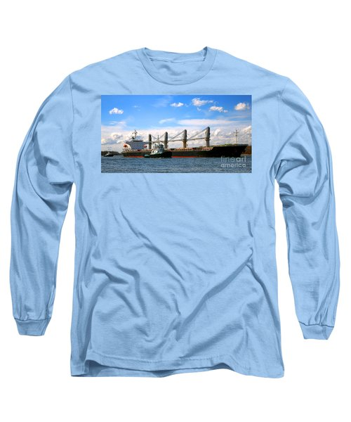 Cargo Ship And Tugboats  Long Sleeve T-Shirt
