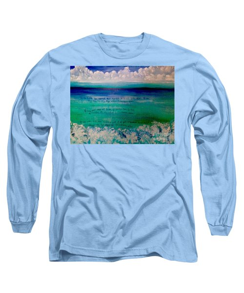 Caribbean Blue Words That Float On The Water  Long Sleeve T-Shirt