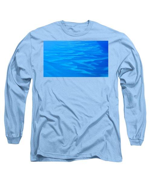 Caribbean Ocean Abstract Long Sleeve T-Shirt
