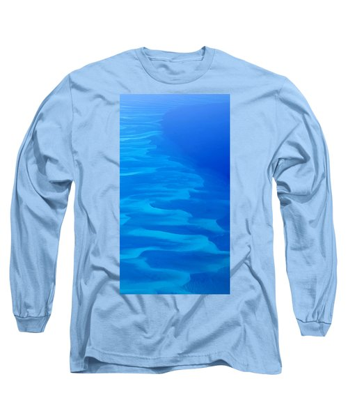 Long Sleeve T-Shirt featuring the photograph Caribbean Ocean Mosaic  by Jetson Nguyen