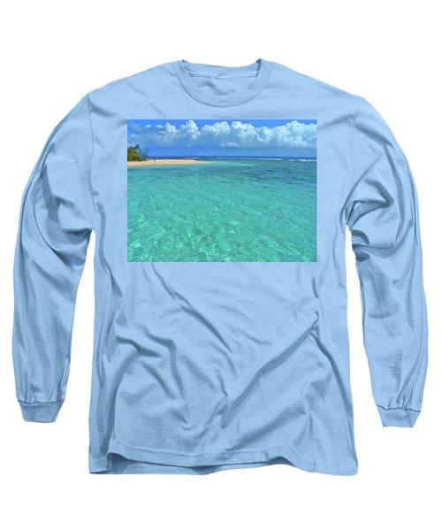 Caribbean Water Long Sleeve T-Shirt by Scott Mahon