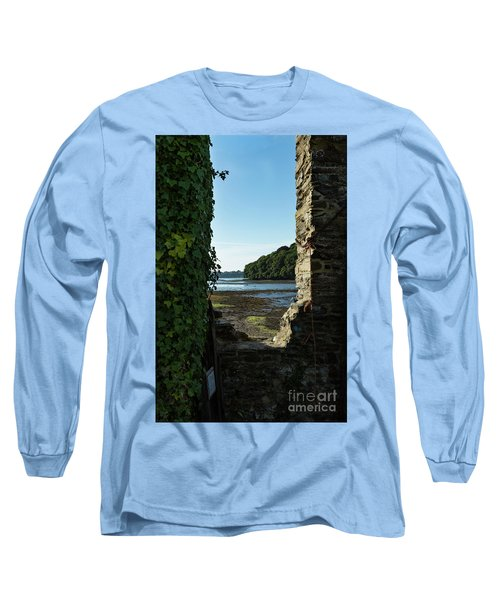 Long Sleeve T-Shirt featuring the photograph Photographs Of Cornwall Carnon Mine Window by Brian Roscorla