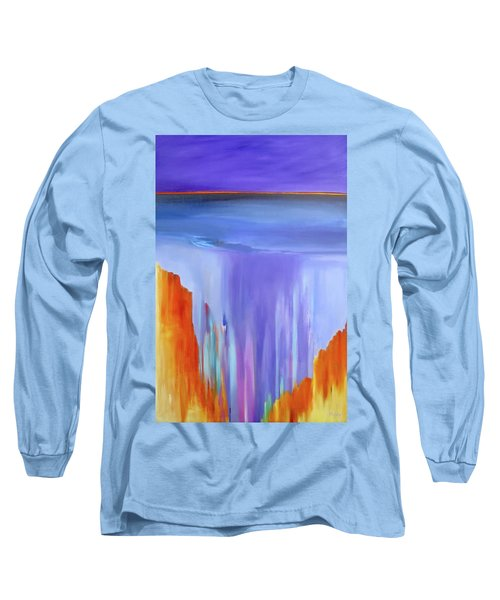 Long Sleeve T-Shirt featuring the painting Casade by Jo Appleby