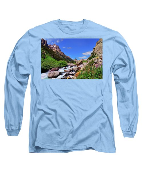 Cascade Canyon Long Sleeve T-Shirt by Greg Norrell