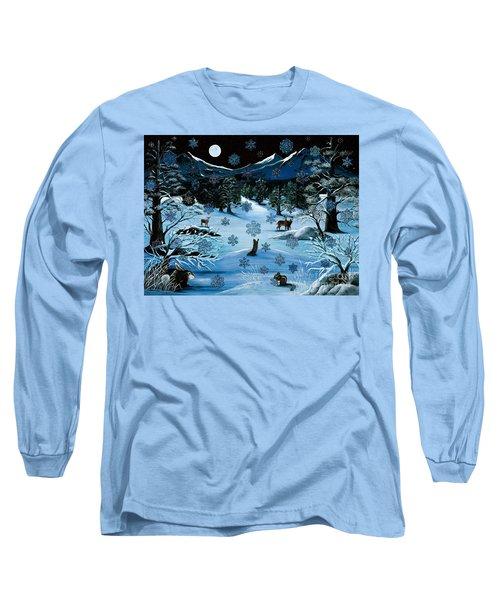 Cascade Snowflake Long Sleeve T-Shirt