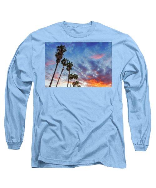 Casitas Palms Long Sleeve T-Shirt by John A Rodriguez