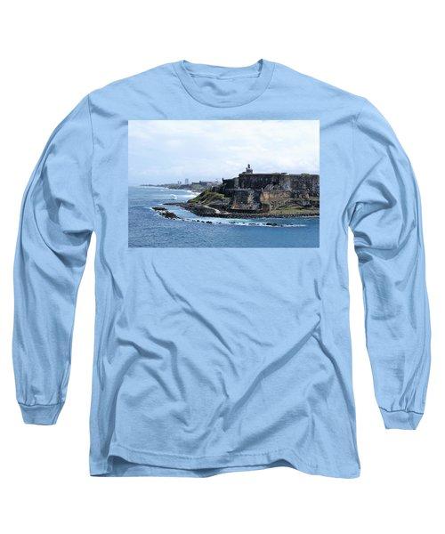 Long Sleeve T-Shirt featuring the photograph Castillo San Felipe Del Morro by Lois Lepisto