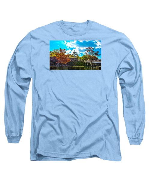 Long Sleeve T-Shirt featuring the photograph Castle In Osaka by Pravine Chester