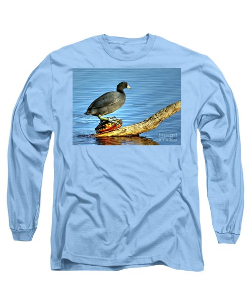 Catching A Slow Ride Long Sleeve T-Shirt by Myrna Bradshaw
