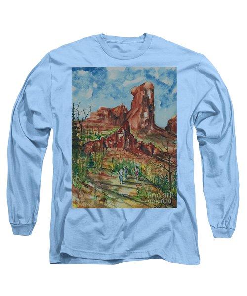 Hiking Cathedral Rock,  Sedona, Az. Long Sleeve T-Shirt
