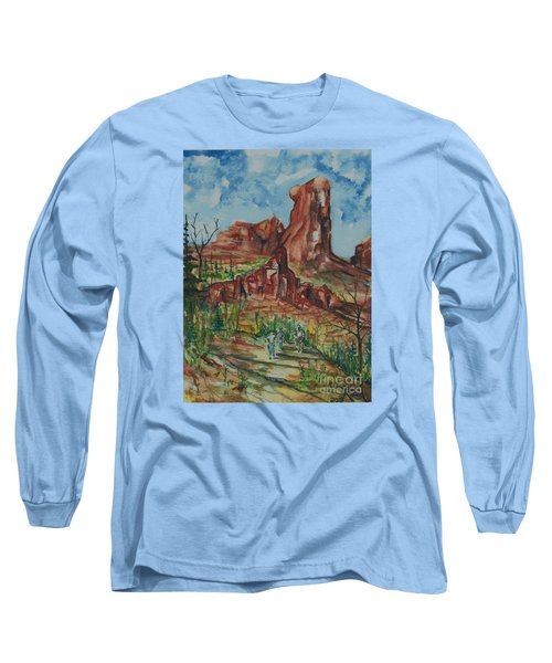 Hiking Cathedral Rock,  Sedona, Az. Long Sleeve T-Shirt
