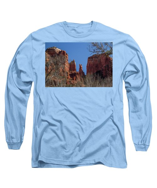 Long Sleeve T-Shirt featuring the photograph Cathedral Rock View by Roger Mullenhour