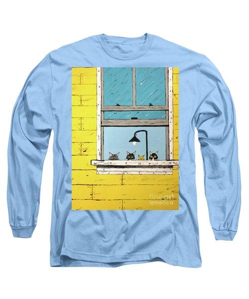 Cats Daydreaming Long Sleeve T-Shirt