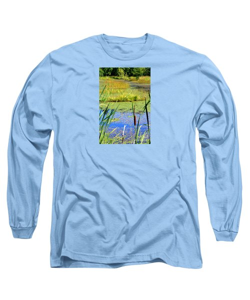 Cattail Long Sleeve T-Shirt by Chris Anderson