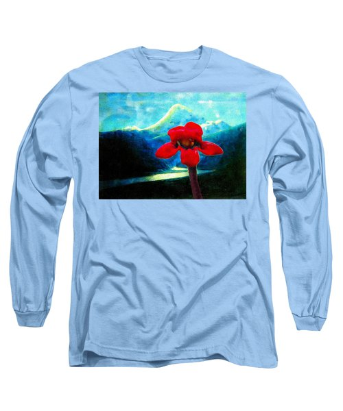 Long Sleeve T-Shirt featuring the photograph Caucasus Love Flower II by Anastasia Savage Ealy