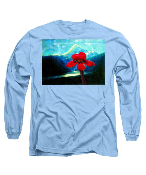 Long Sleeve T-Shirt featuring the photograph Caucasus Love Flower I by Anastasia Savage Ealy