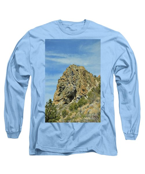 Long Sleeve T-Shirt featuring the photograph Cave Rock At Tahoe by Benanne Stiens