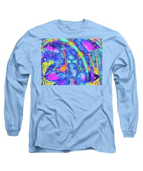 Long Sleeve T-Shirt featuring the digital art Celestial Burst by Wendy J St Christopher