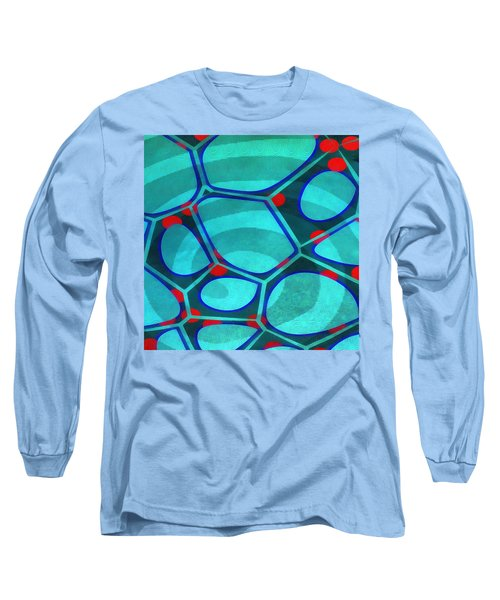 Cell Abstract 6a Long Sleeve T-Shirt by Edward Fielding
