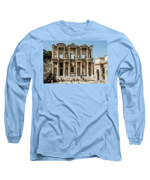 Celsus Library Long Sleeve T-Shirt by Kathy McClure